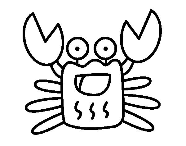 Dibujo de Cangrejo alegre para Colorear - Dibujos.net