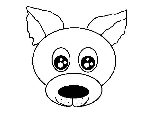 Dibujo de Cara de cachorro para Colorear - Dibujos.net