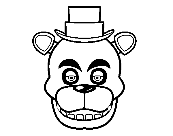 Dibujo de Cara de Freddy de Five Nights at Freddy's para Colorear