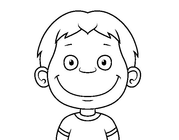 Dibujo De Cara De Niño Pequeño Para Colorear Dibujosnet
