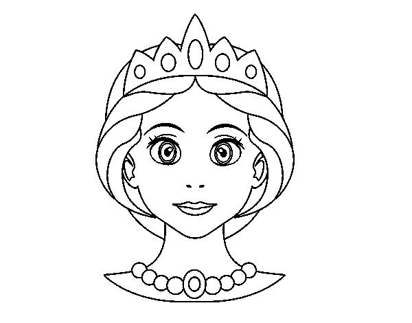 Dibujo de Cara de princesa para Colorear   Dibujos.net