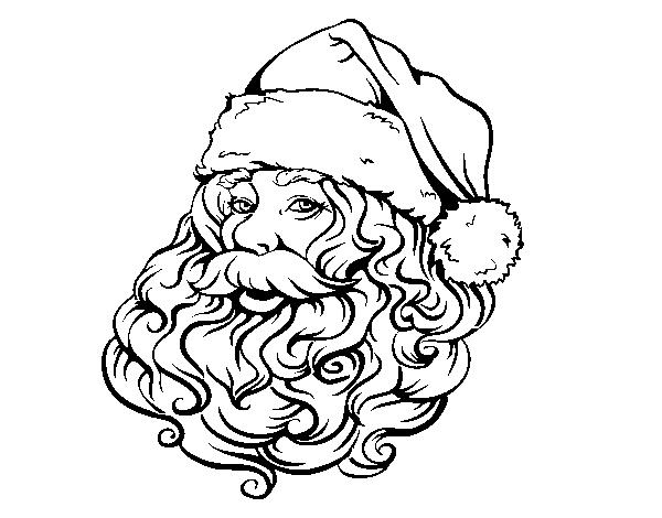 Dibujo De Cara De Santa Claus Para Navidad Para Colorear Dibujosnet