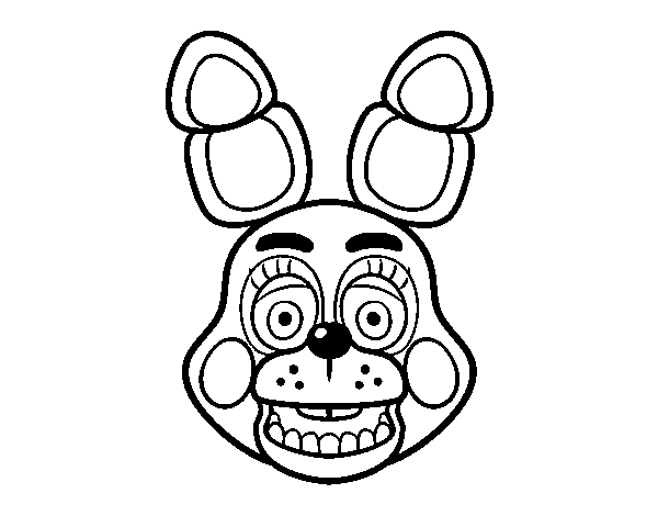 Dibujo De Cara De Toy Bonnie De Five Nights At Freddys Para