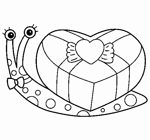 Dibujo De Caracol 2 Para Colorear Dibujosnet