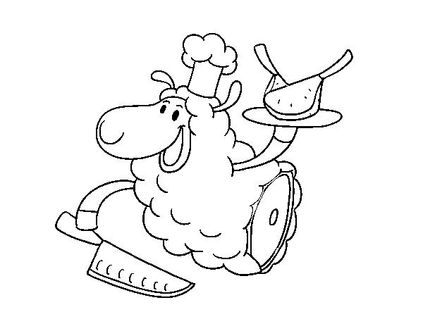 Dibujo de Carne de cordero para Colorear - Dibujos.net