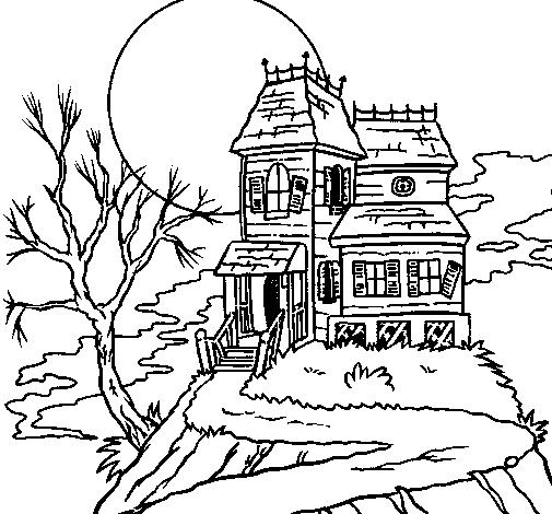 Dibujo de Casa encantada para Colorear - Dibujos.net