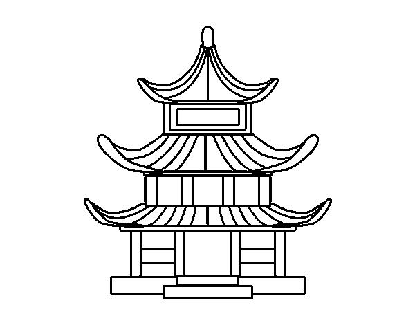 Dibujo De Casa Tradicional Japonesa Para Colorear Dibujos Net