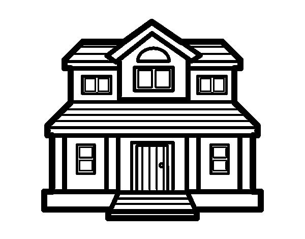 Dibujo de Casa victoriana para Colorear - Dibujos.net