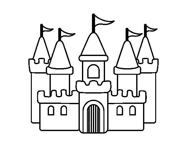 Dibujos Para Colorear Castillos Princesas Acelesite Com Castillo