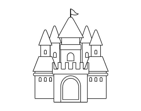 Dibujo De Castillo Medieval 2 Para Colorear Dibujosnet