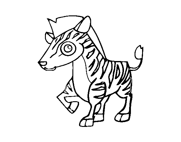 Dibujo de Cebra de montaña para Colorear - Dibujos.net