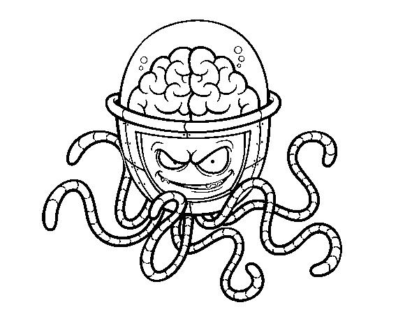 Dibujo De Cerebro Mecánico Para Colorear Dibujosnet