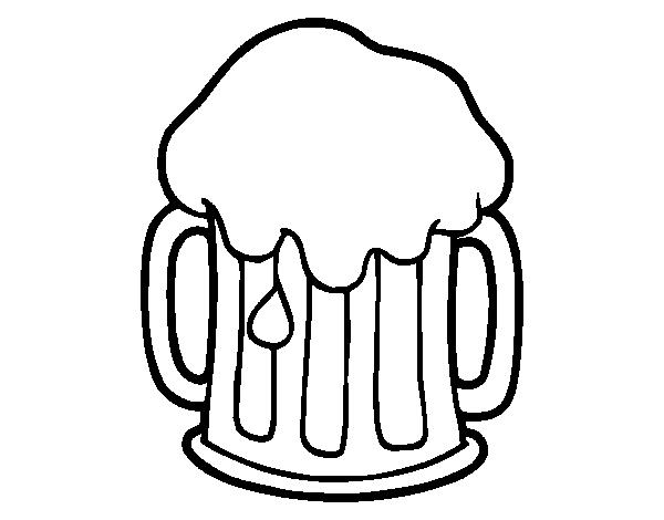 Dibujo de Cerveza fría para Colorear - Dibujos.net