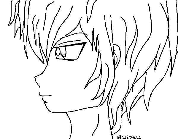 Dibujo de Chico anime 2 para Colorear - Dibujos.net