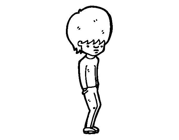 Dibujo De Chico Emo Para Colorear Dibujosnet