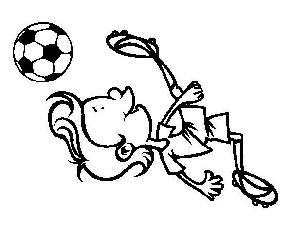 Dibujos De Porteros De Futbol Stunning Futbol Dibujo: Dibujo De Chilena Para Colorear