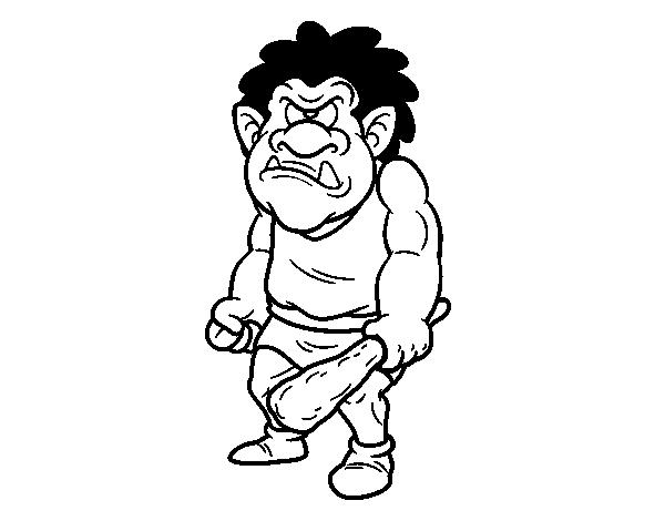 Dibujo De Cíclope Gigante Para Colorear Dibujosnet
