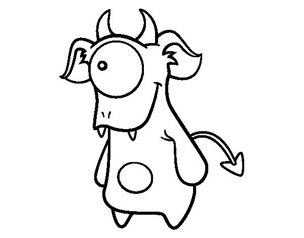 Dibujo de Cíclope monstruoso para Colorear - Dibujos.net