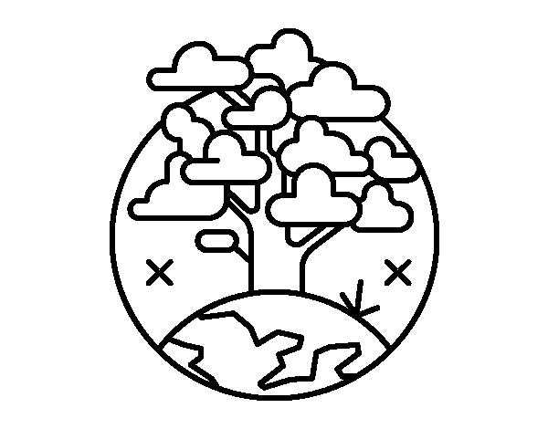 Dibujo de Circulo árbol para Colorear - Dibujos.net