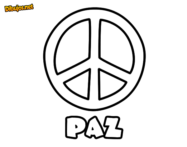 Dibujo de Círculo de la paz para Colorear - Dibujos.net