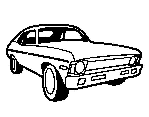 Dibujo de Coche americano para Colorear - Dibujos.net