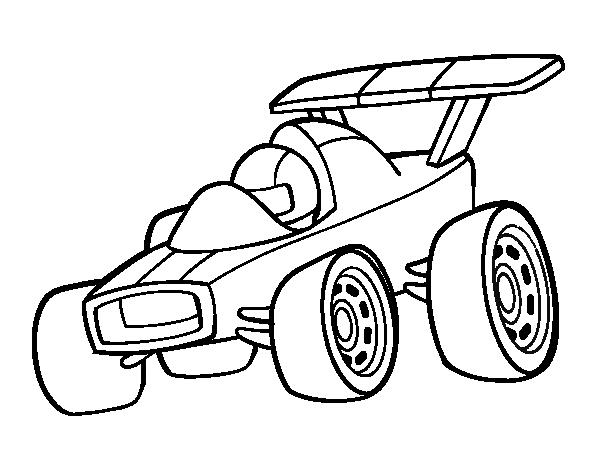 Dibujo de Coche rápido para Colorear - Dibujos.net