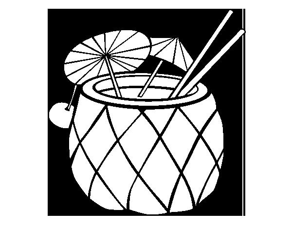 Dibujo De Cóctel Piña Para Colorear Dibujosnet