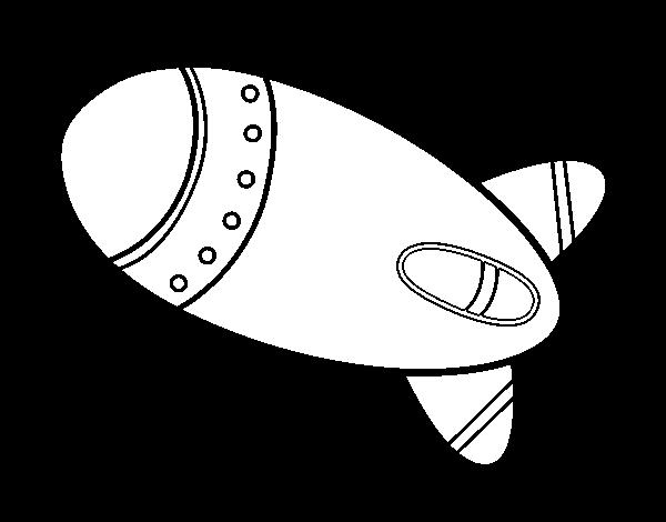 Dibujo de Cohete en el espacio para Colorear - Dibujos.net