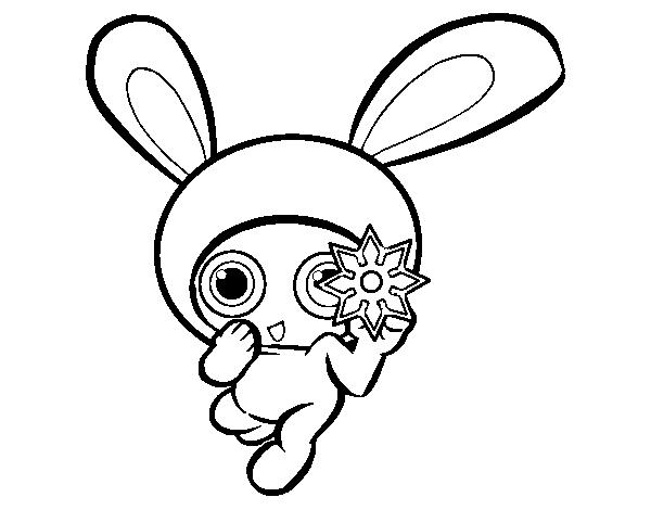 Dibujo de Conejo ninja para Colorear - Dibujos.net
