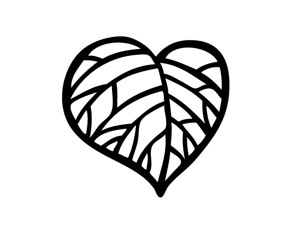 Dibujo de Corazón Ecológico para Colorear - Dibujos.net