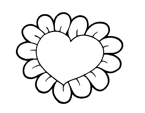 Dibujo Corazon San Valentin Colorear