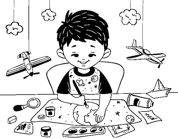 Dibujo de Creatividad infantil para Colorear - Dibujos.net
