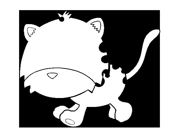 Dibujo de Cría de guepardo corriendo para Colorear - Dibujos.net