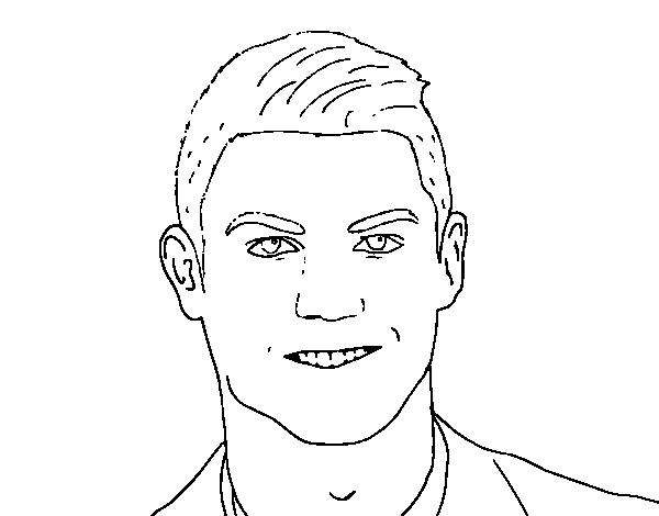 Dibujo de Cristiano Ronaldo cara para Colorear - Dibujos.net