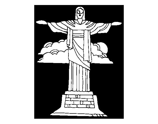 Dibujo de Cristo Redentor para Colorear - Dibujos.net