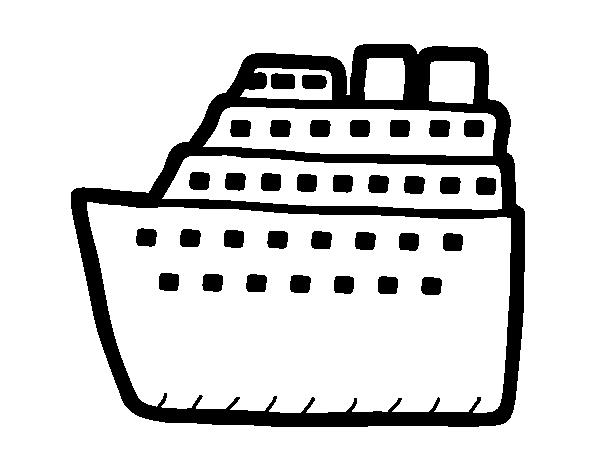 Dibujo de Crucero para Colorear - Dibujos.net