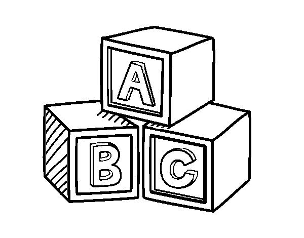 Dibujo De Cubos Educativos Abc Para Colorear Dibujos Net