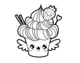 Dibujos De Cupcakes Para Colorear Dibujosnet
