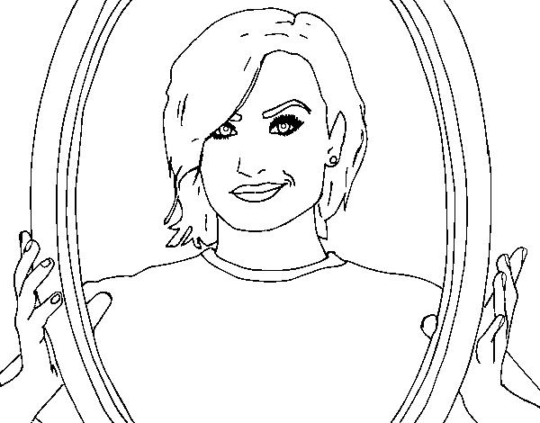 Dibujo de Demi Lovato estrella del POP para Colorear - Dibujos.net