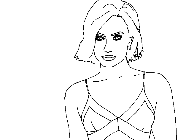 Dibujo de Demi Lovato para Colorear - Dibujos.net