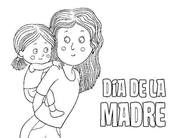 Dibujo De Día De La Madre Para Colorear Dibujosnet