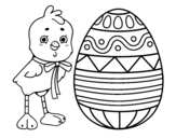 Dibujo De Happy Easter Para Colorear Dibujosnet