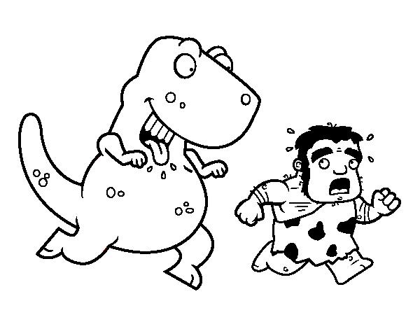 Dibujo de Dinosaurio cazador para Colorear - Dibujos.net