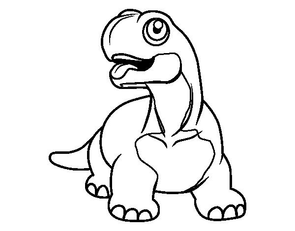Dibujo de Diplodocus con la lengua fuera para Colorear - Dibujos.net