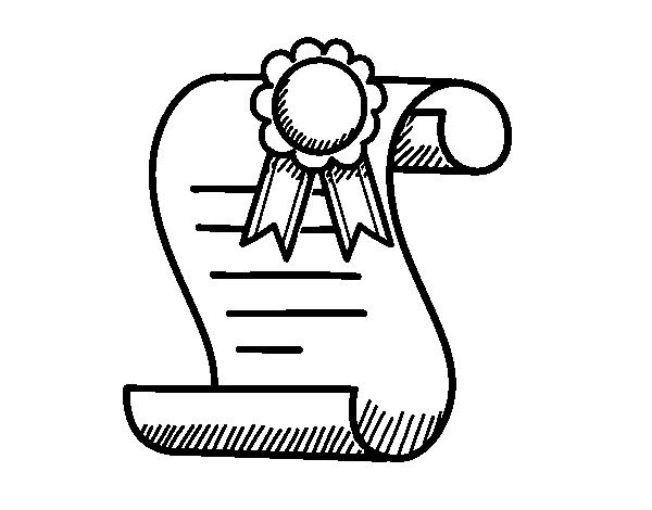 Dibujo de Diploma escolar para Colorear - Dibujos.net