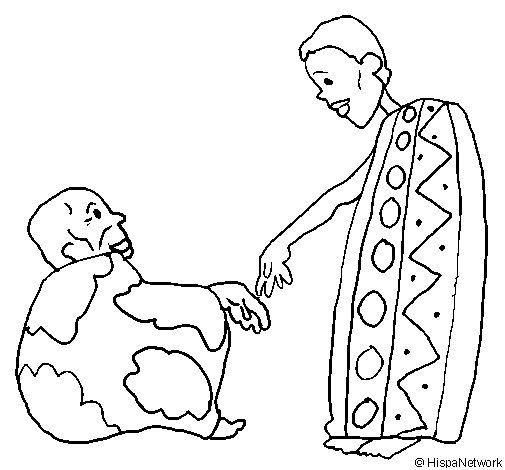 Dibujo de Dos africanos para Colorear - Dibujos.net