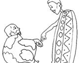 Dibujos De áfrica Para Colorear Dibujosnet