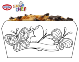 Dibujo de Dr Oetker Junior Chef Molde mariposas para colorear