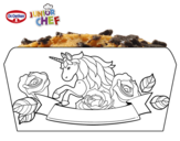 Dibujo de Dr Oetker Junior Chef Molde poni para colorear