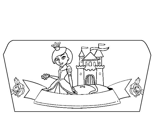 Dibujo de Dr Oetker Junior Chef Molde princesa para Colorear ...